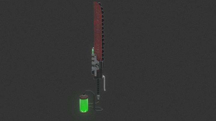 Brotherhood of Nod/ Warhammer hybrid chainsword 3D Model