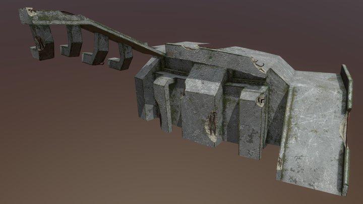 Concrete Structure 01 3D Model