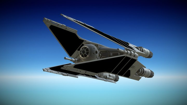 Four Ion Engines Fie Fighter 3D Model