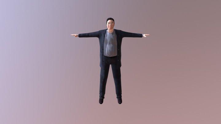Modern Fat Male 3D Model