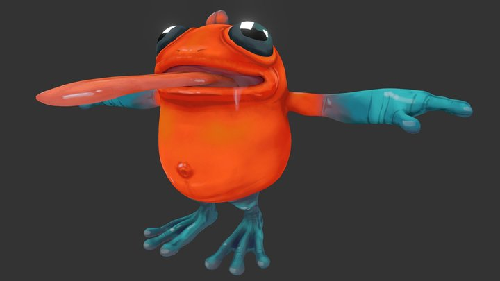 The Frog 3D Model