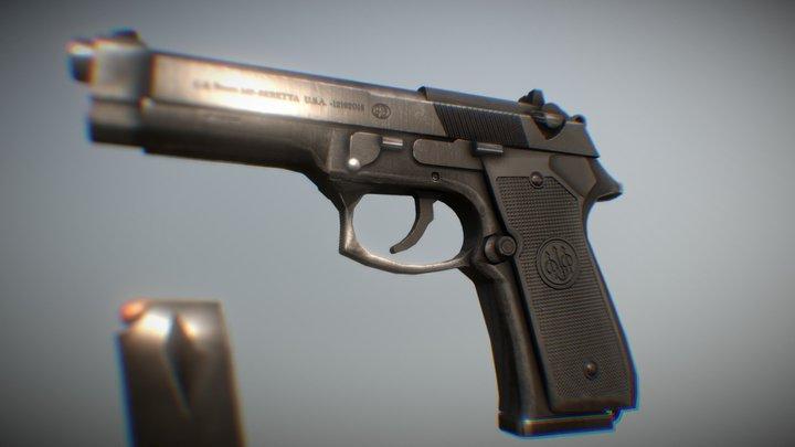 3D Beretta M9 3D Model