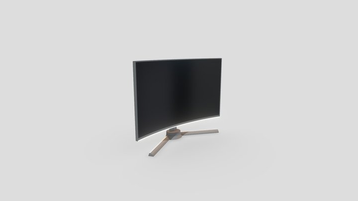 Curved Gaming Monitor 2 3D Model