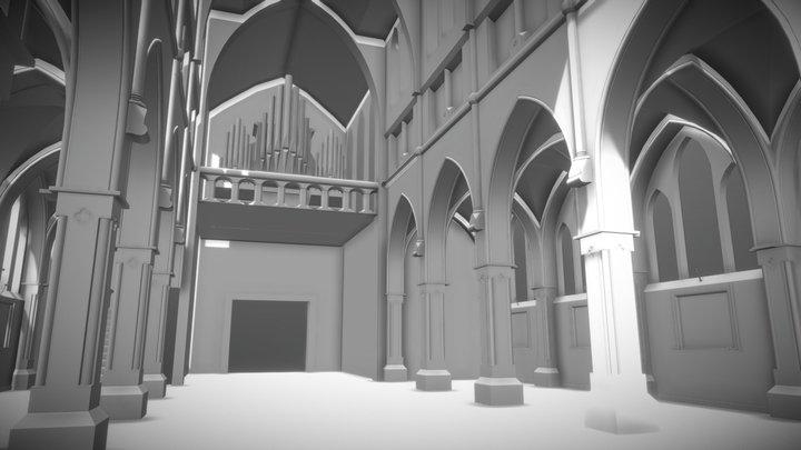 Kerk interieur W.I.P 3D Model