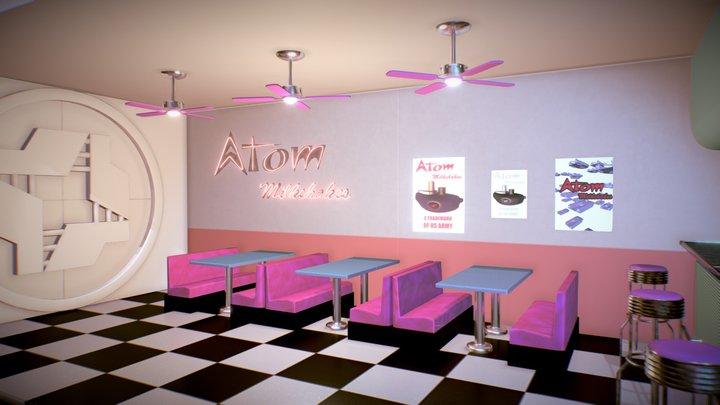 Atom Milkshakes 3D Model