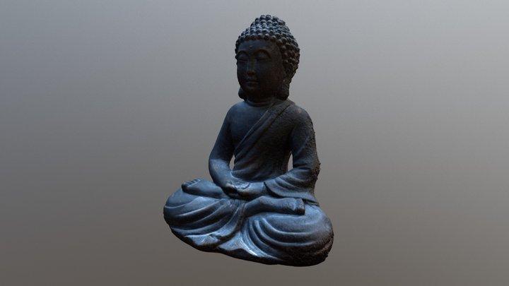 Monk Statue Buddha 3D Model