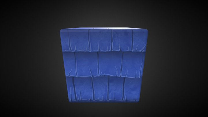 roof_tiles_stylized 3D Model