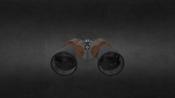 Classic Binocular 3D Model