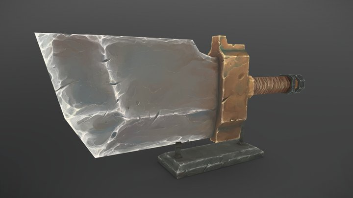 Low Poly Handpainted Knife 3D Model