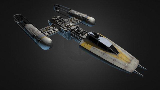 Y-Wing - by Silvia Nanni 3D Model