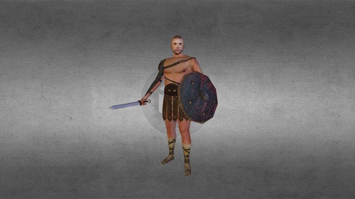 Roman Gladiator 3D Model