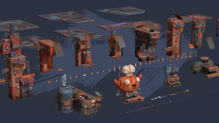 Scrap City Assets first pack 3D Model