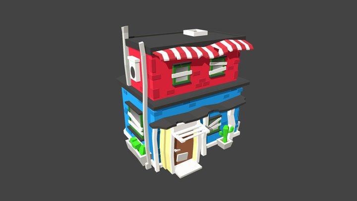 Little Tropical House 3D Model