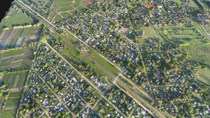 Rural Town HIGH - UAV Mapping 3D Model