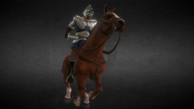 Horse Run 3D Model