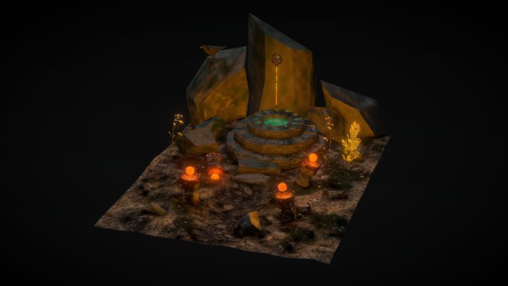 Staff of Time Rifts 3D Model