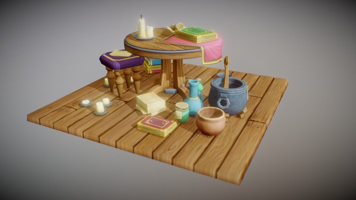 Low_Poly_Medieval_Props_04 3D Model