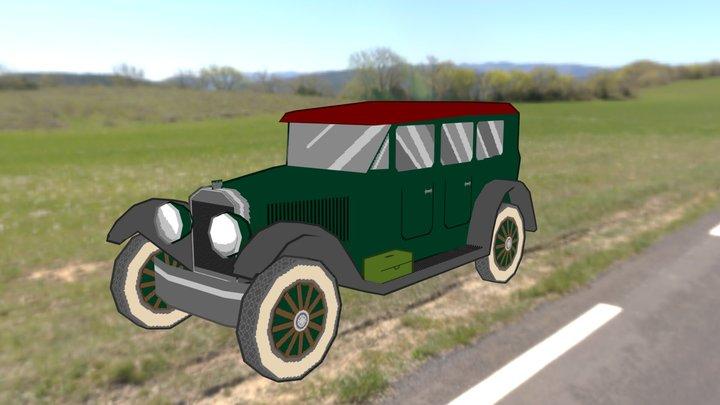1922 Winton Six Sedan 3D Model