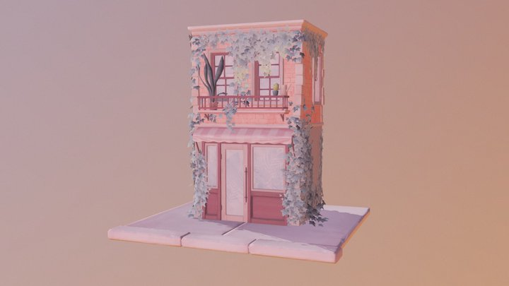 Ivy covered townhouse 3D Model