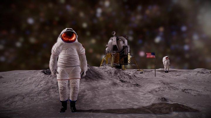 🌙 Moon Landing 3D Model