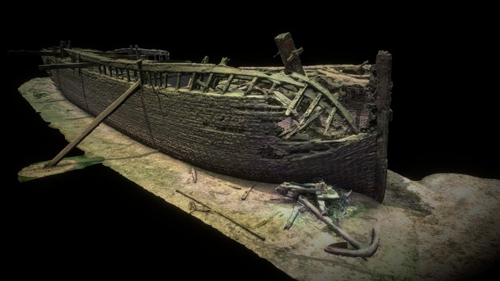 Robert Gaskin wreck / exterior hull 3D Model