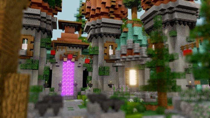 Small lobby - 4 portals 3D Model
