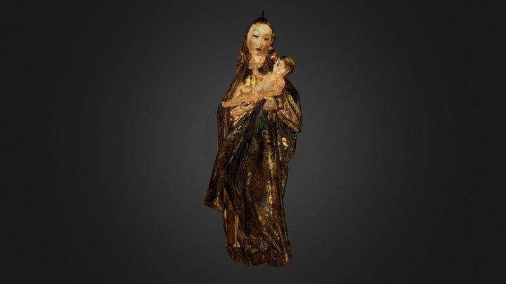 Virgin with Baby Jesus 3D Model