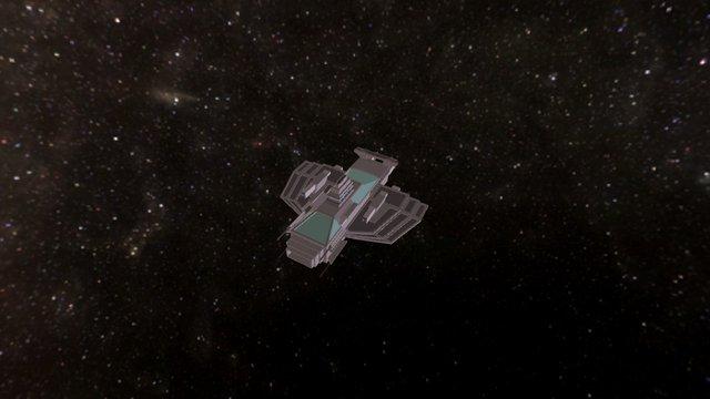Fighter Spaceship 3D Model