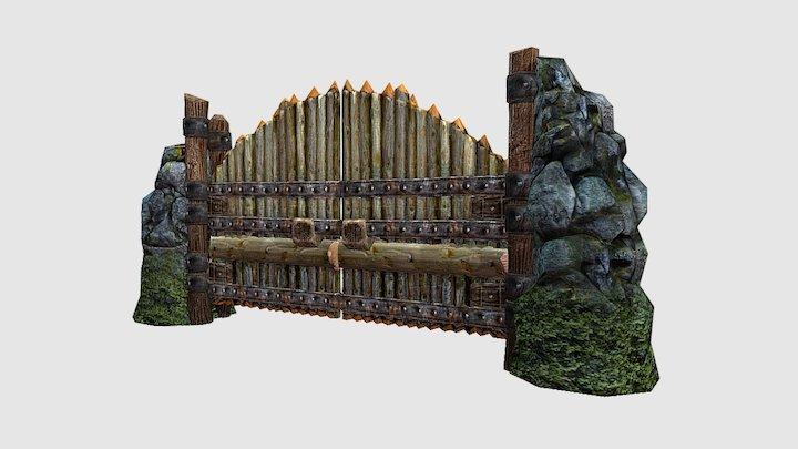 Medieval Fantasy Gates 3D Model