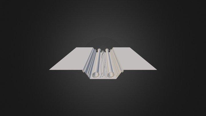 Space Corridor Ground 3D Model