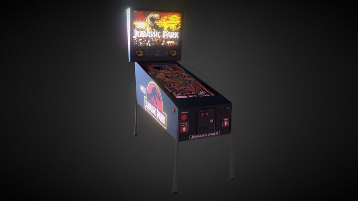 Jurassic Park Pinball Machine 3D Model