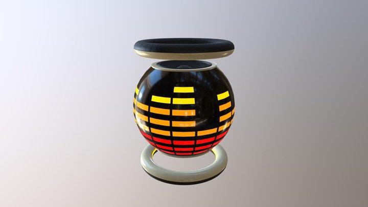 Retro-futuristic speaker 3D Model