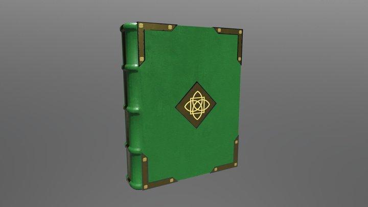 Medieval Book (Green) 3D Model