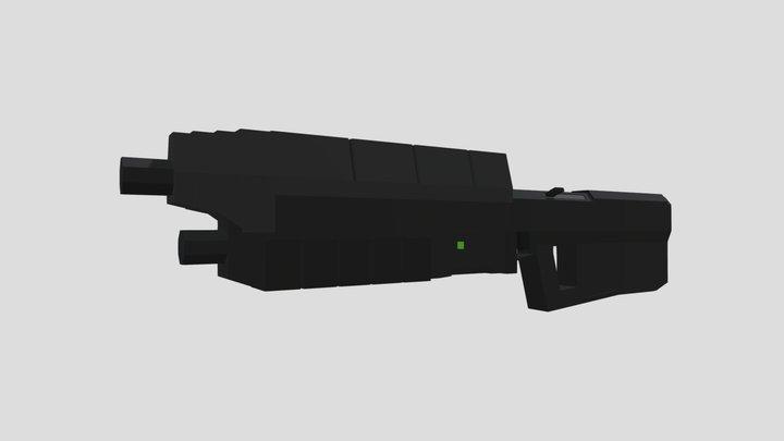 Low Poly Assault Rifle Model 3D Model
