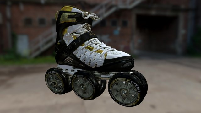 Roller skates colored 3D Model