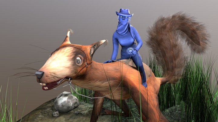 Squirrel Rider 3D Model
