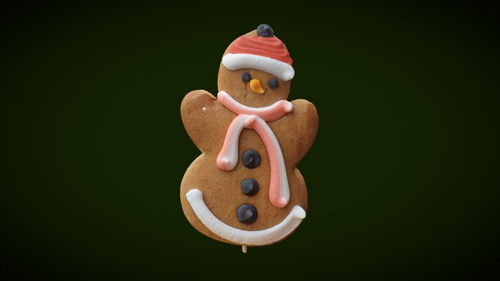 Gingerbread man (2.3M) 3D Model