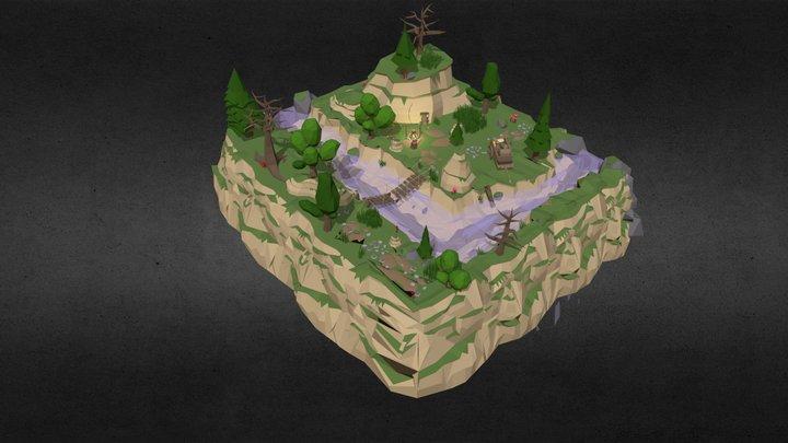 Adventure scene 3D Model