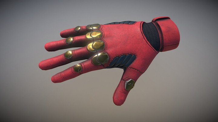 Sci-Fi Glove : Rigged and Animated 3D Model