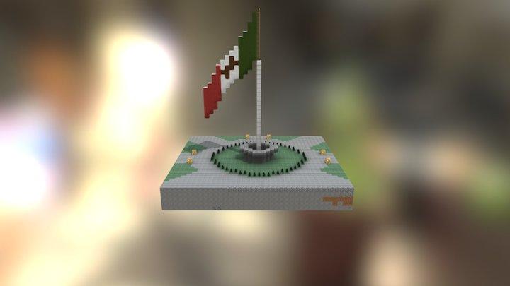 Asta bandera 3D Model