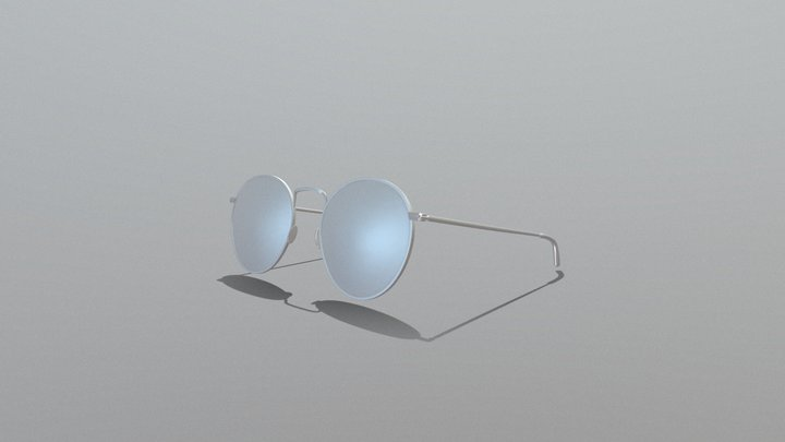 Hipster glasses eyewear spectacles 3D Model
