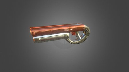Shortgun Low Poly 3D Model