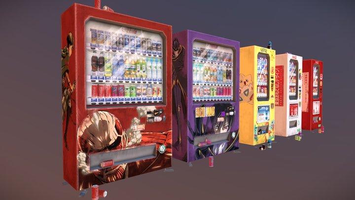 Kyoto - City Scene - Vending Machines 3D Model