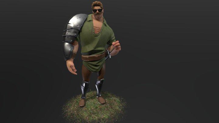 Hipster Knight 3D Model