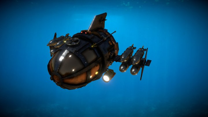 Submarino - Atlantis el imperio perdido 3D Model