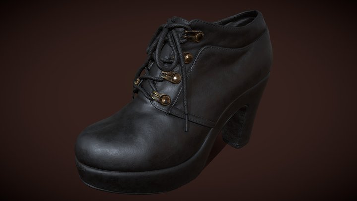 woman_shoes (PBR texture) 3D Model