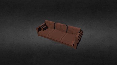 Frasier's Coco Chanel replica sofa 3D Model