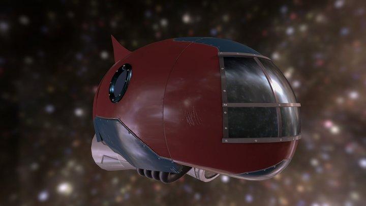 Stylized Spacecraft 3D Model