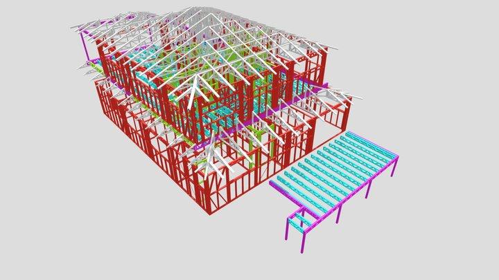 JOB 19039 - Preliminary 3D model @ 600mm spacing 3D Model