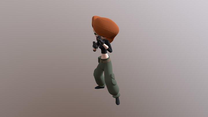 Kim Possible - Boxing 3D Model